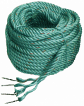 Polysteel rope with lead